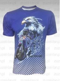 Koszulka Orzeł - Sport, Pasja, Adrenalina Niebieska